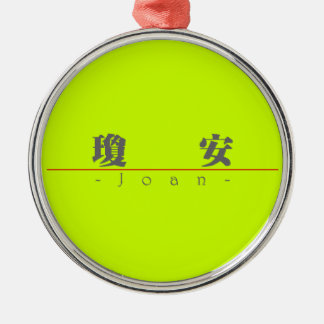 Chinese name for Joan 20176_3.pdf Round Metal Christmas Ornament
