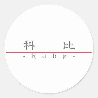 Chinese name for Kobe 22476_2.pdf Round Sticker