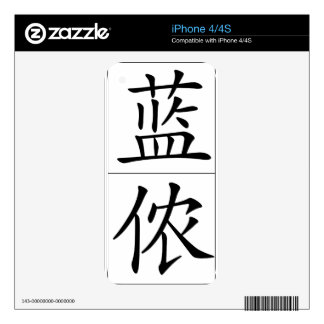 Chinese name for Lennon 20689_1.pdf Decal For iPhone 4S