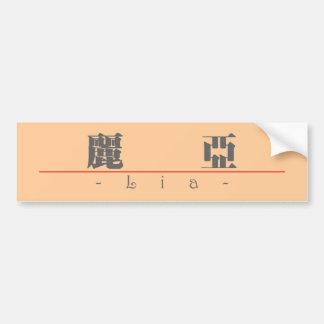 Chinese name for Lia 21377_3.pdf Bumper Sticker
