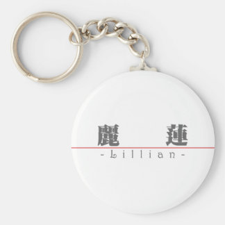 Chinese name for Lillian 20208_3.pdf Basic Round Button Keychain