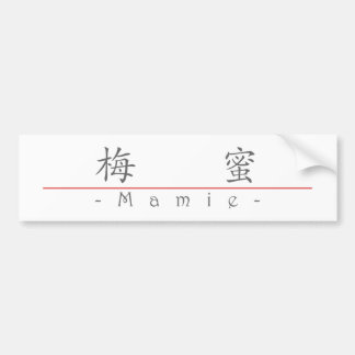 Chinese name for Mamie 20222_1.pdf Bumper Sticker