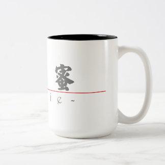 Chinese name for Mamie 20222_4.pdf Two-Tone Coffee Mug