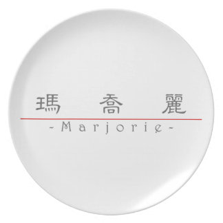 Chinese name for Marjorie 20230_2.pdf Party Plate