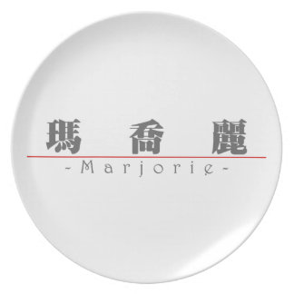 Chinese name for Marjorie 20230_3.pdf Party Plate