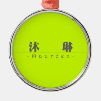 Chinese name for Maureen 20235_3.pdf Round Metal Christmas Ornament