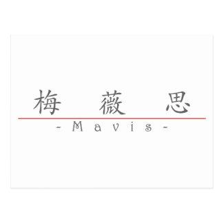 Chinese name for Mavis 20236_1 pdf Postcards