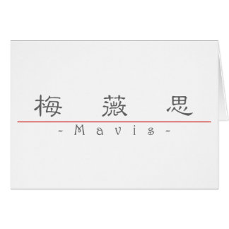 Chinese name for Mavis 20236_2 pdf Greeting Card