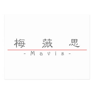 Chinese name for Mavis 20236_2 pdf Post Cards