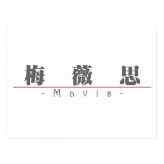 Chinese name for Mavis 20236_3 pdf Post Card