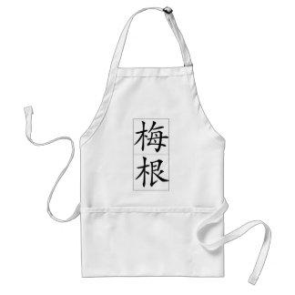 Chinese name for Megan 20240_1.pdf Adult Apron