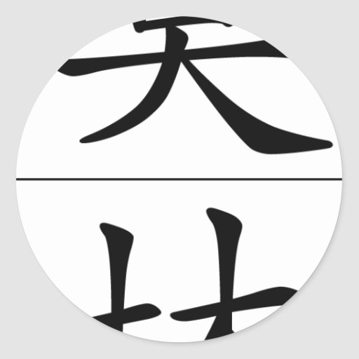 Chinese name for Merlin 20724_1.pdf Classic Round Sticker
