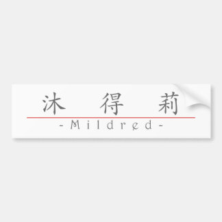 Chinese name for Mildred 20248_1.pdf Bumper Sticker