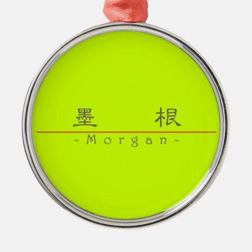 Chinese name for Morgan 21074_2.pdf Round Metal Christmas Ornament