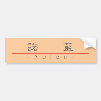 Chinese name for Nolan 22092_2.pdf Bumper Sticker