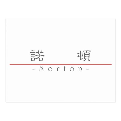 Chinese name for Norton 20753_2.pdf Post Card