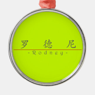 Chinese name for Rodney 20799_1.pdf Round Metal Christmas Ornament
