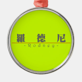 Chinese name for Rodney 20799_3.pdf Round Metal Christmas Ornament