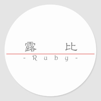 Chinese name for Ruby 20313_2.pdf Classic Round Sticker