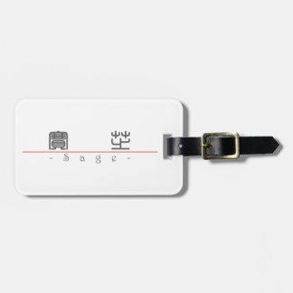 Chinese name for Sage 21460_0.pdf Bag Tags
