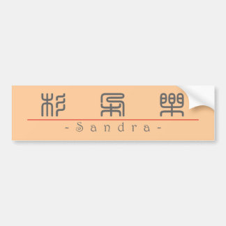 Chinese name for Sandra 20320_0.pdf Car Bumper Sticker