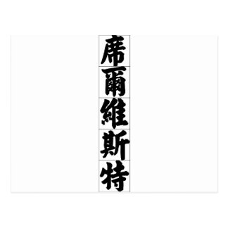 Chinese name for Silvester 20817_4.pdf Postcard