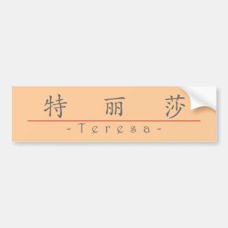 Chinese name for Teresa 20345_1.pdf Bumper Sticker
