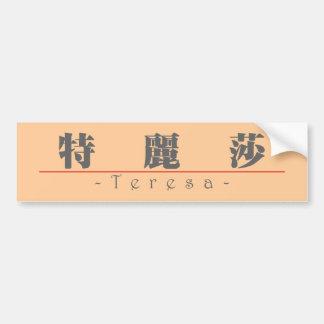 Chinese name for Teresa 20345_3.pdf Bumper Sticker