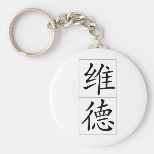 Chinese name for Wade 20859_1.pdf Basic Round Button Keychain