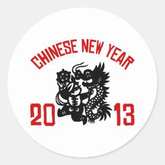 Chinese New Year 2013 Classic Round Sticker