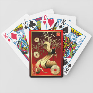 Chinese New Year-2013-year of the Snake Bicycle Playing Cards