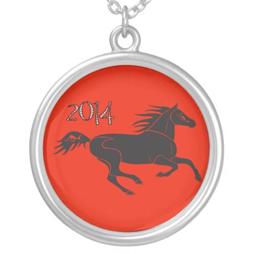 Chinese New Year 2014 Year of the Horse Necklace