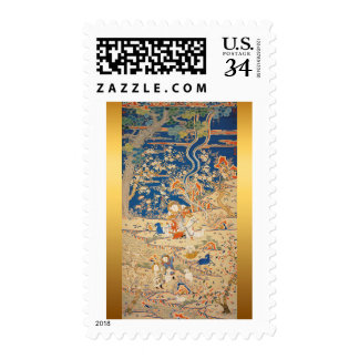 Chinese New Year 2015 - Goats Chinese Tapestry 1 Postage Stamp