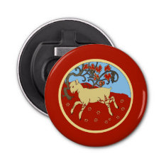 Chinese New Year 2015 Year Of The Ram, Sheep, Goat Bottle Opener at Zazzle