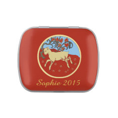 Chinese New Year 2015 Year of the Ram, Sheep, Goat Candy Tin at Zazzle