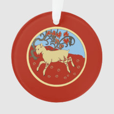 Chinese New Year 2015 Year Of The Ram, Sheep, Goat Ornament at Zazzle