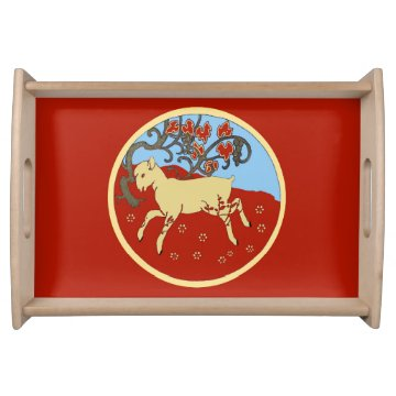 Chinese New Year 2015 Year of the Ram, Sheep, Goat Service Trays at Zazzle