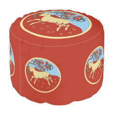 Chinese New Year 2015 Year Of The Ram, Sheep, Goat Pouf at Zazzle