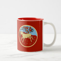 Chinese New Year 2015 Year Of The Ram, Sheep, Goat Two-tone Coffee Mug at Zazzle