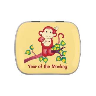 Chinese New Year 2016 Red Monkey Candy Tin