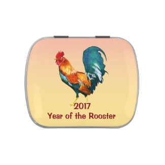 Chinese New Year 2017 Red Rooster Candy Tin