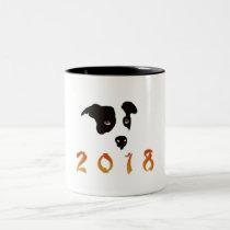 Chinese New Year 2018 Two-Tone Coffee Mug
