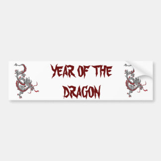 Chinese New Year Dragon Bumper Sticker