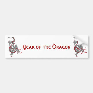 Chinese New Year Dragon Bumper Stickers