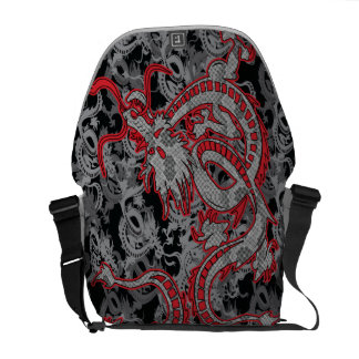 Chinese New Year Dragon - Dragon in Red Messenger Bag