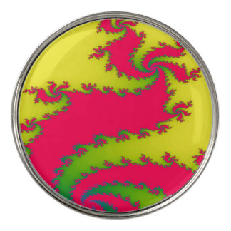 Chinese New Year Dragon Fractal Golf Ball Markers