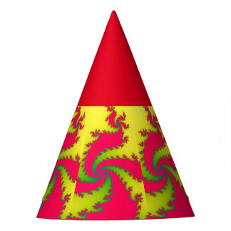 Chinese New Year Dragon Fractal Party Hat