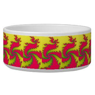 Chinese New Year Dragon Fractal Pet Bowl