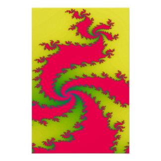 Chinese New Year Dragon Fractal Poster