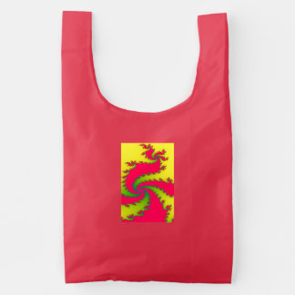 Chinese New Year Dragon Fractal Reusable Bag